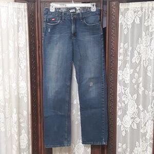VANS Distressed Fade Vintage Denim Blue Jeans